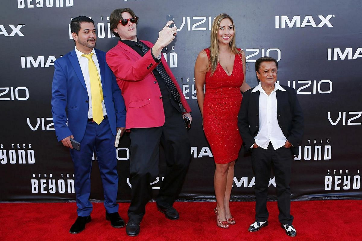 Actor Deep Roy (right) and guests arrive for the world premiere of Star Trek Beyond at Comic Con in San Diego, California, US, on July 20.