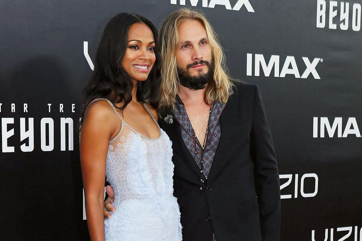 Actress Zoe Saldana and husband, Marco Perego, arrive for the world premiere of Star Trek Beyond at Comic Con in San Diego, California, US, on July 20.