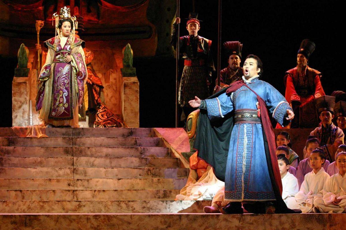 Singapore Lyric Opera will restage Puccini's epic Turandot (above) next month.
