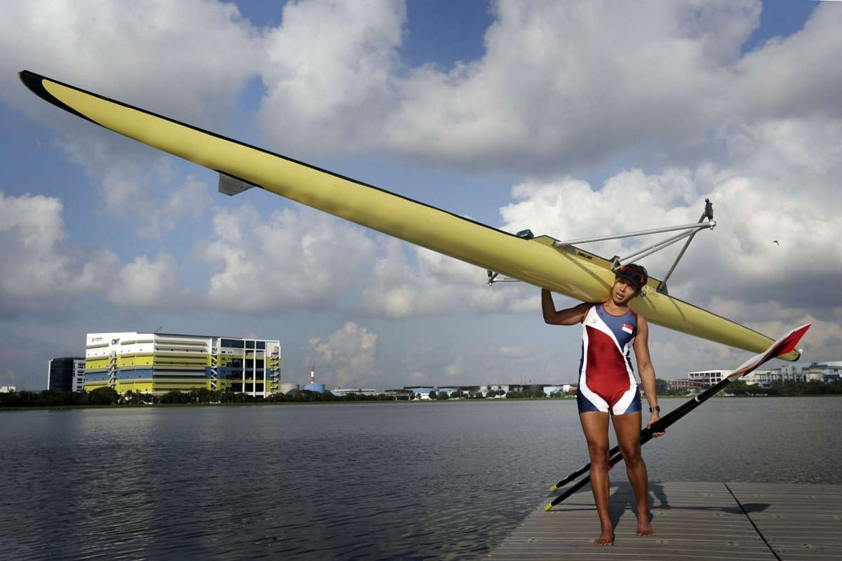 National rower Saiyidah Aisyah, Singapore's first rower to compete at the Olympic Games.