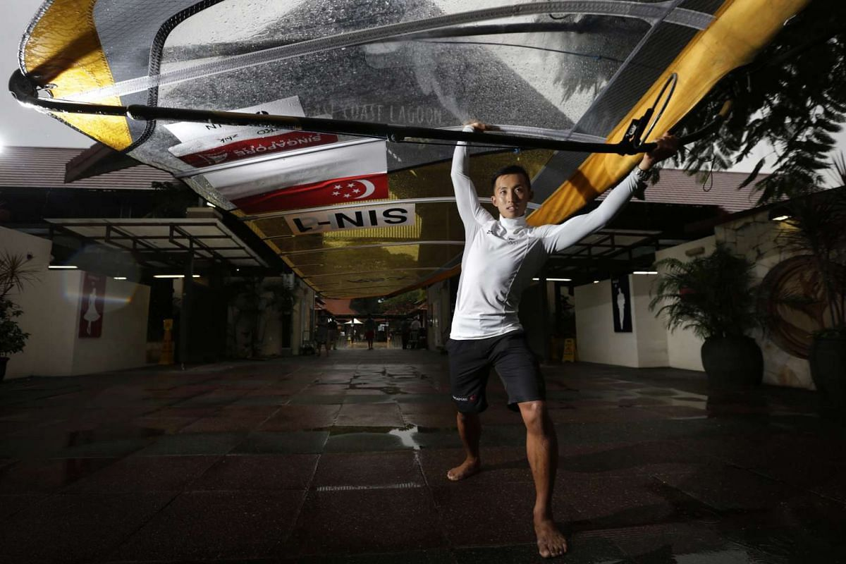Singapore's windsurfer Leonard Ong who will be competing in the upcoming 2016 Olympic Games in Rio.