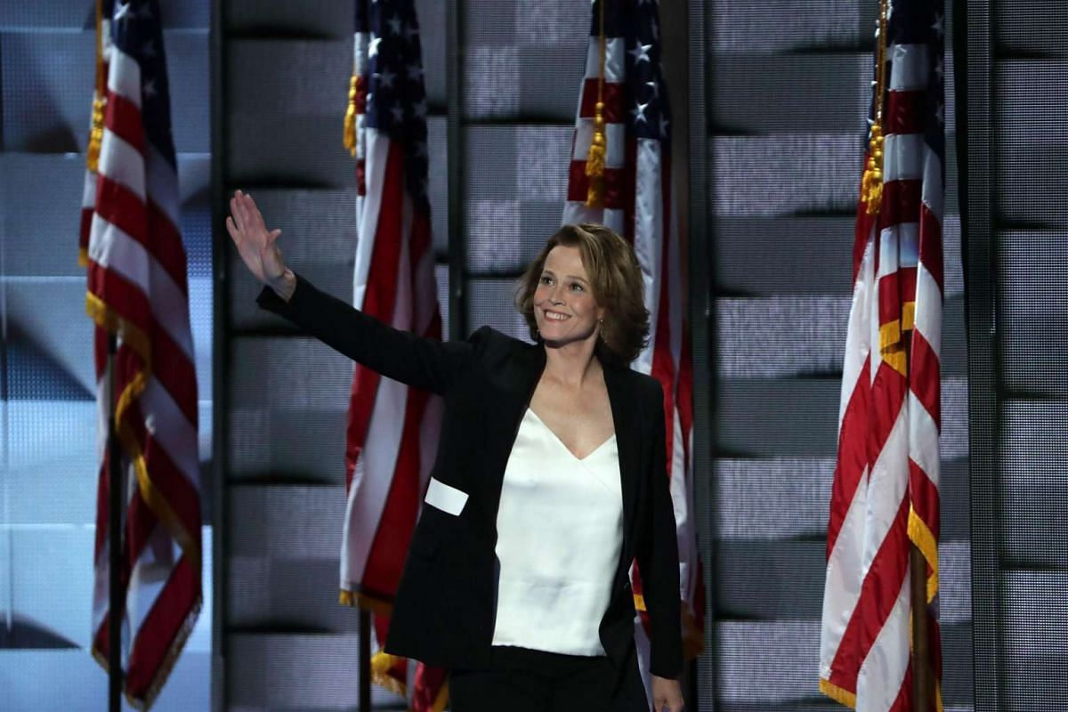 Actress Sigourney Weaver, who has played former First Ladies on both the big and small screens, took to the stage on July 27.