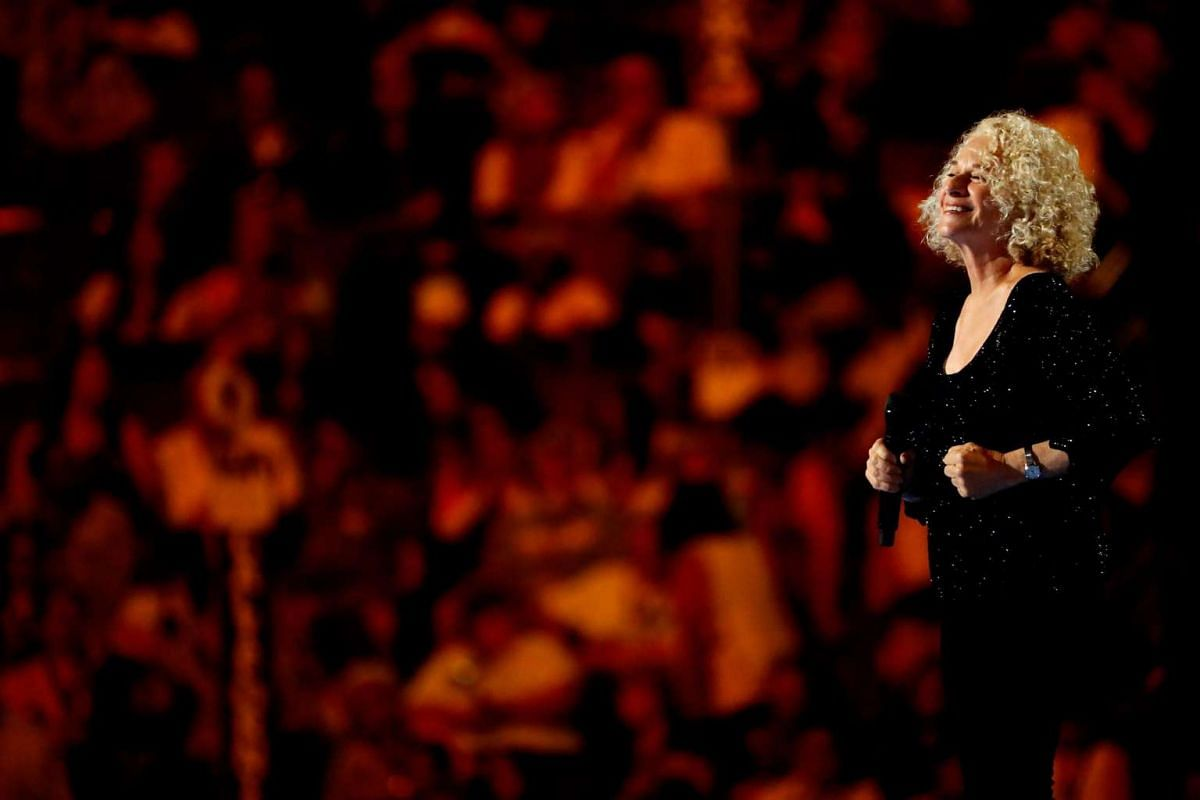 Singer-songwriter Carol King sang her classic hit, You've Got A Friend.