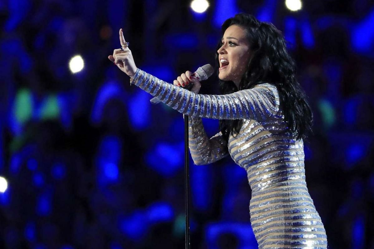 Singer Katy Perry was a headline attraction. She performed Rise and Roar at the Wells Fargo Center.