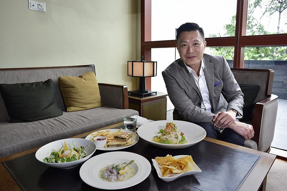 Mr Lim Tian Wee enjoys cooking and learns through YouTube.
