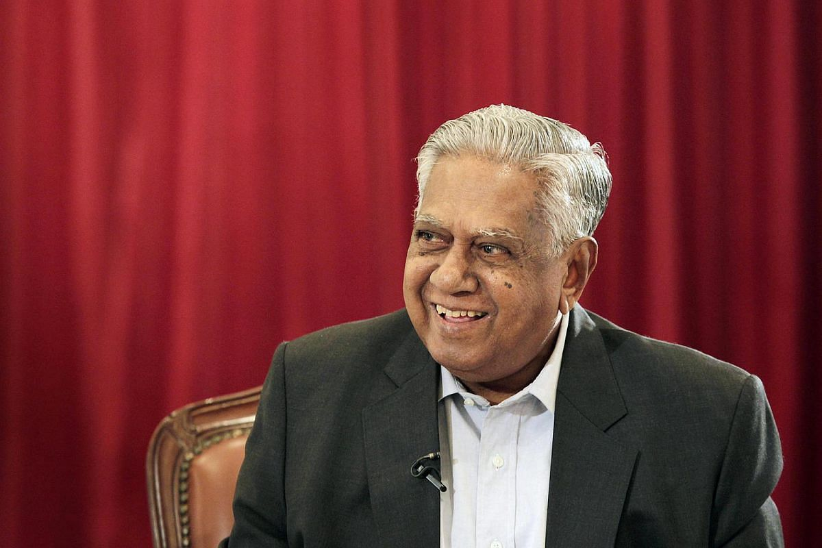 Mr S R Nathan at the Istana as he presents the new book Winning Against The Odds - The Labour Research Unit In NTUC's Founding in January 2011.