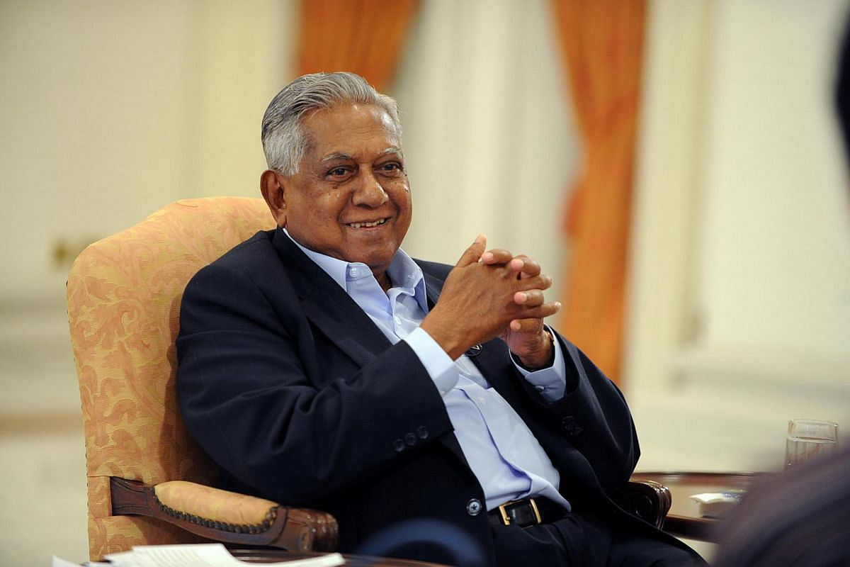 Mr S R Nathan gives an interview on his first book, titled Why Am I Here?, in February 2009.