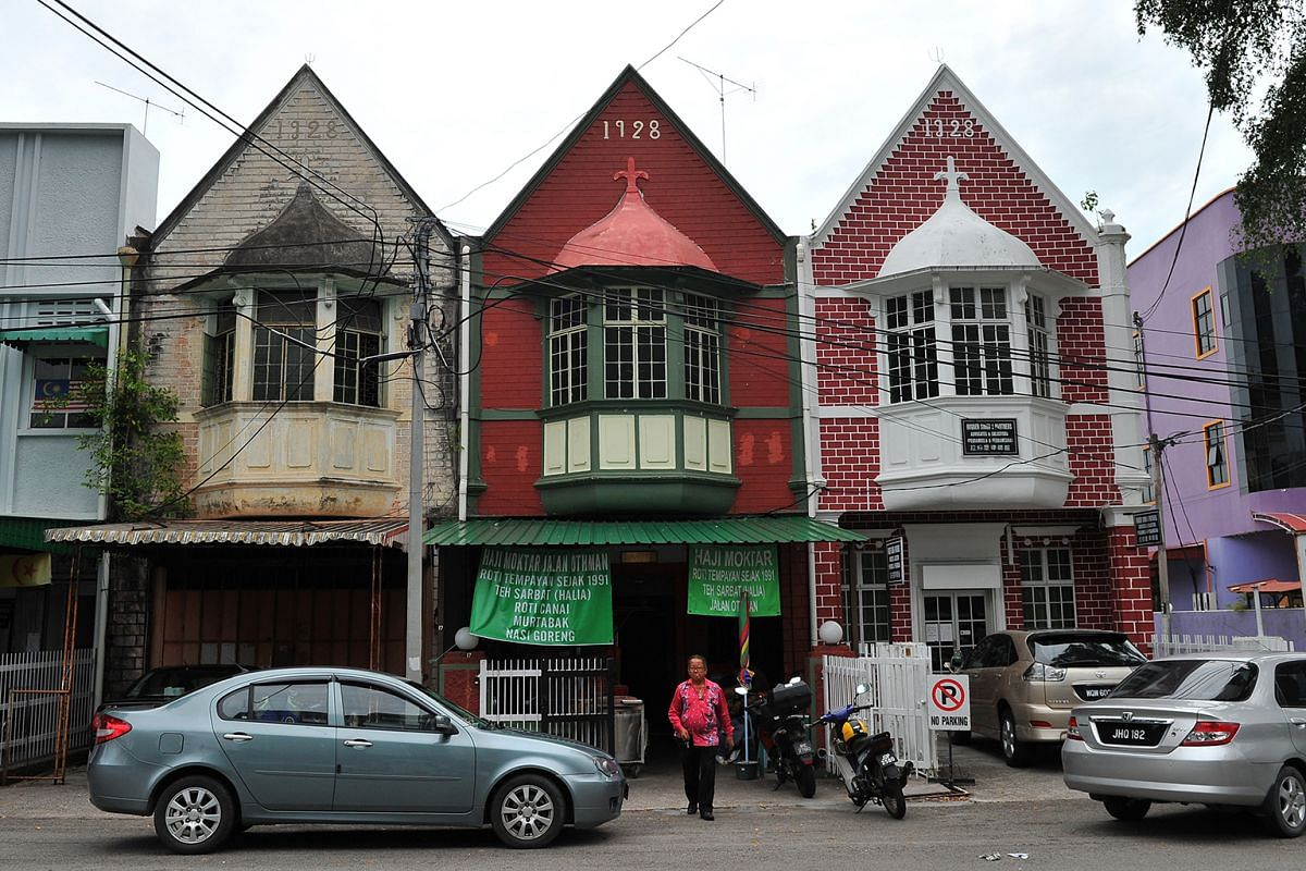 Two-storey houses with Dutch architectural designs in Jalan Othman in Muar.
