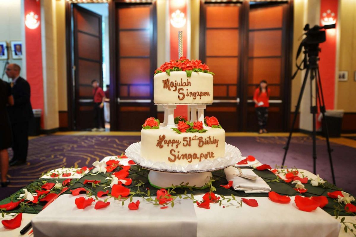The cake at the National Day celebrations at the the Singapore embassy in Washington, DC, on July 31.