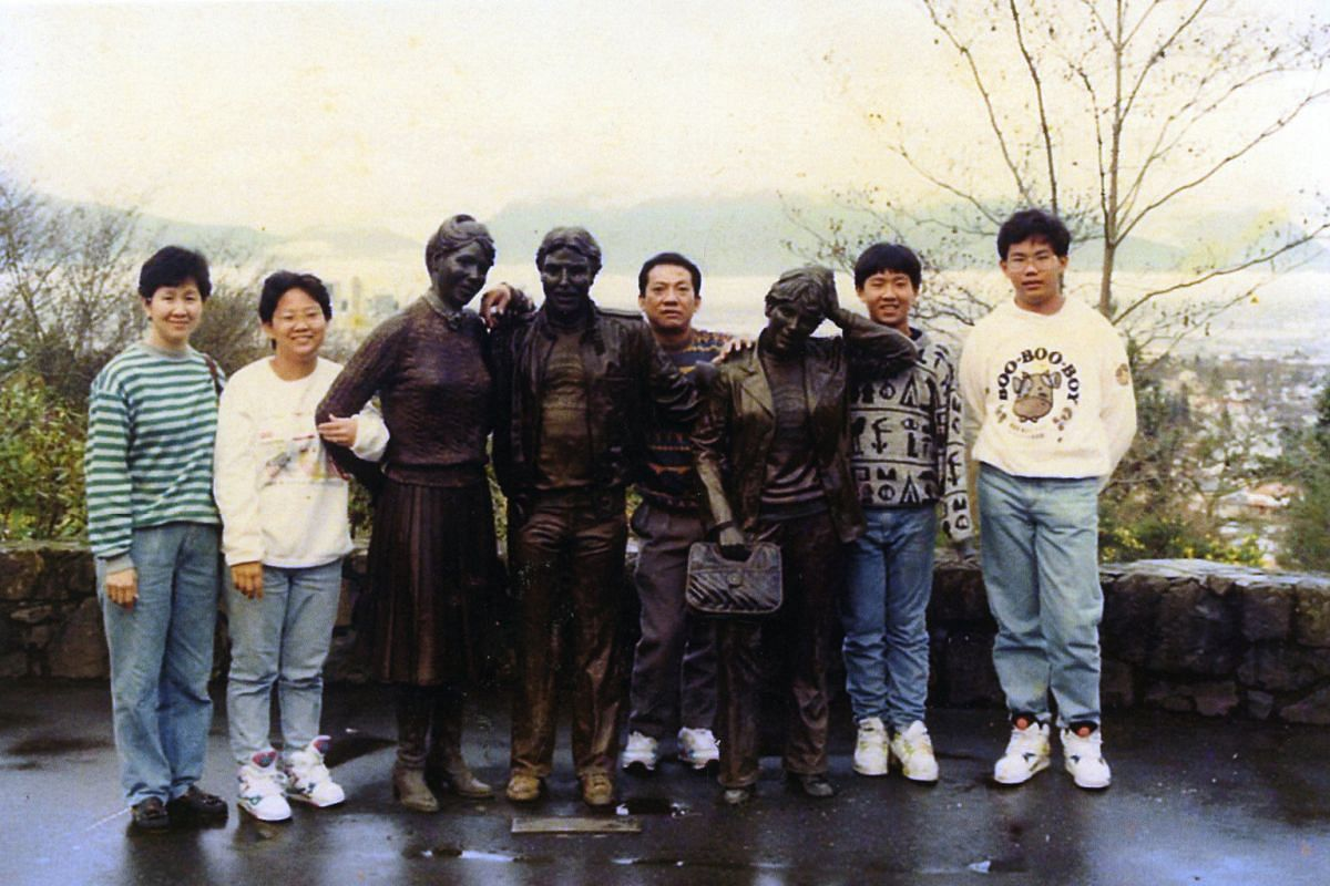 My life so far: Ms Goh Chiew Buay (second from right) with her mother Tan Siew Kiau, father Goh Leng Chia and brothers Goh Maih Woo (second from far right) and Goh Maih How on a holiday in the United States in 1993.