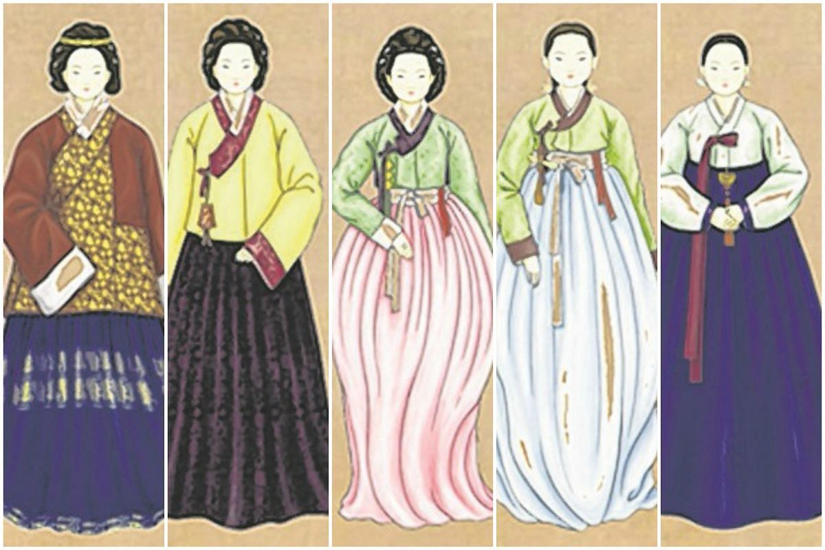 Through the centuries: (From left to right) 15th-16th century; 17th century; 18th century; 19th century and 20th century.
