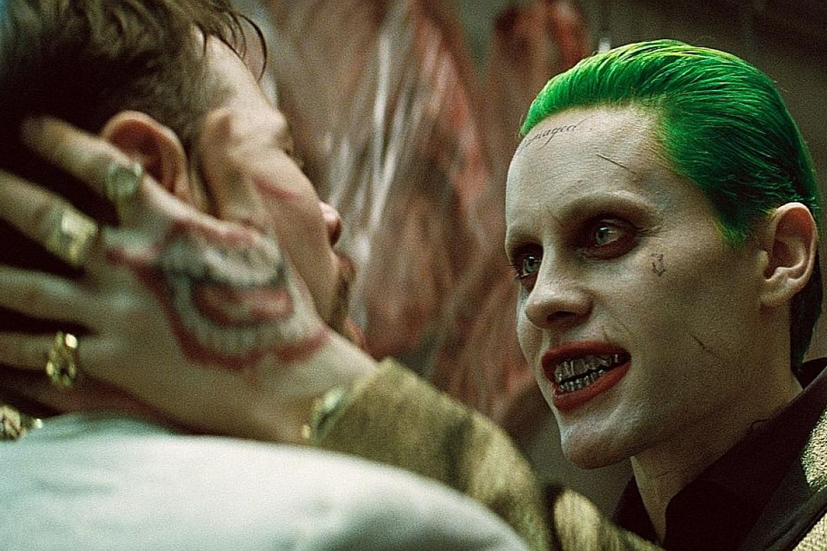Jared Leto, who plays the Joker (above), kept to himself during filming and communicated with the rest of the cast only by sending them gifts such as a live rat and a briefcase full of bullets.