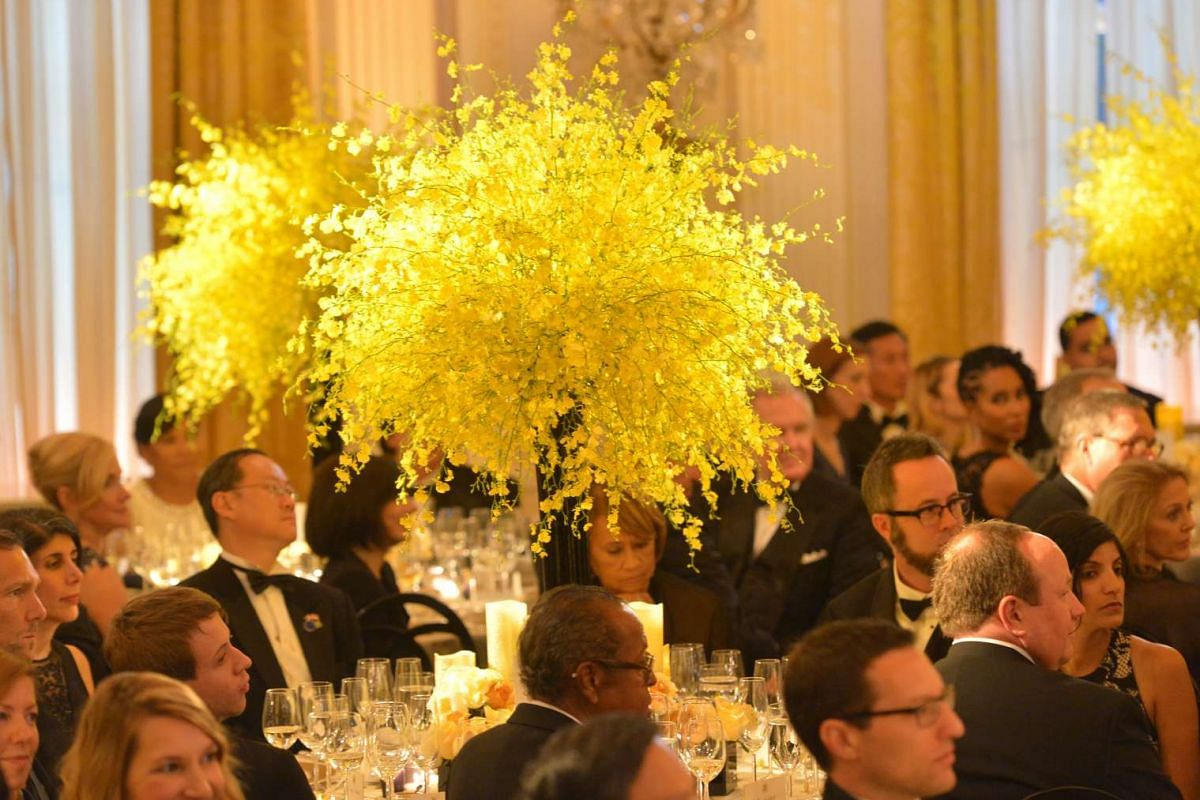 Guests are seated during the state dinner at the White House on Aug 2, 2016.