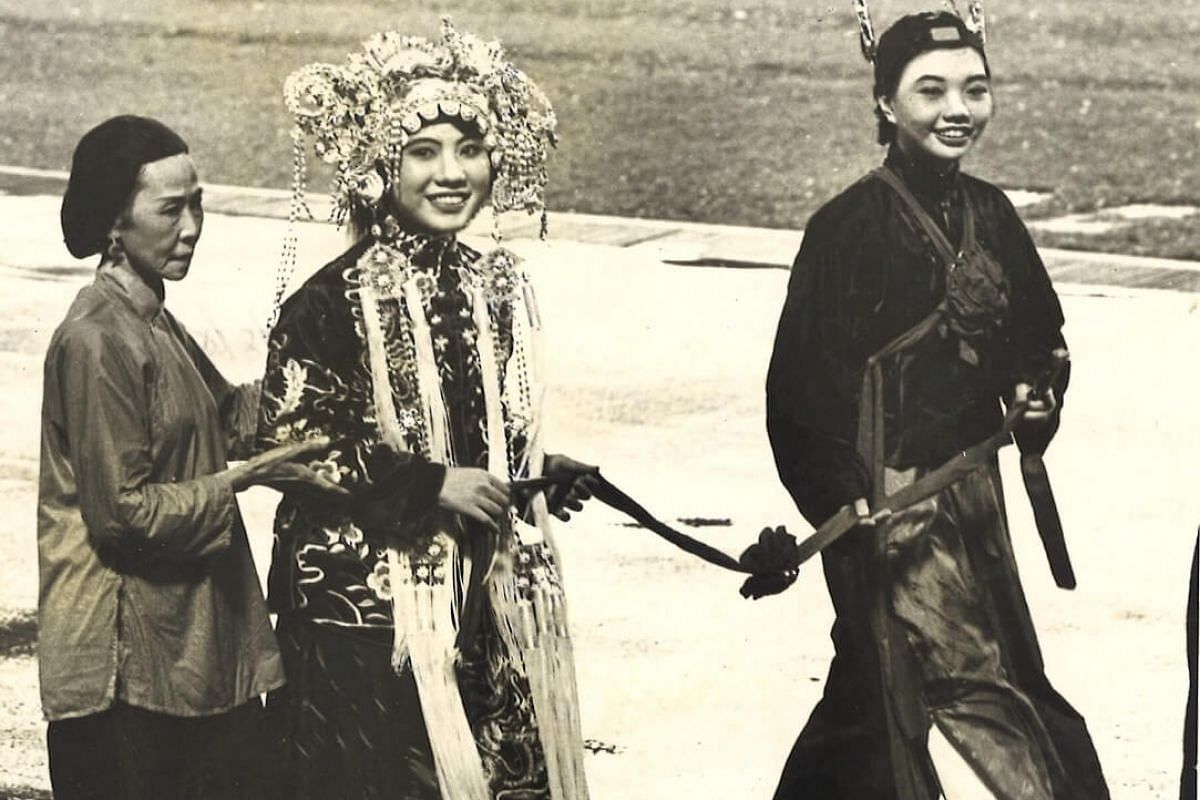 1980: The traditional Chinese wedding was part of the cultural tableau during the parade.