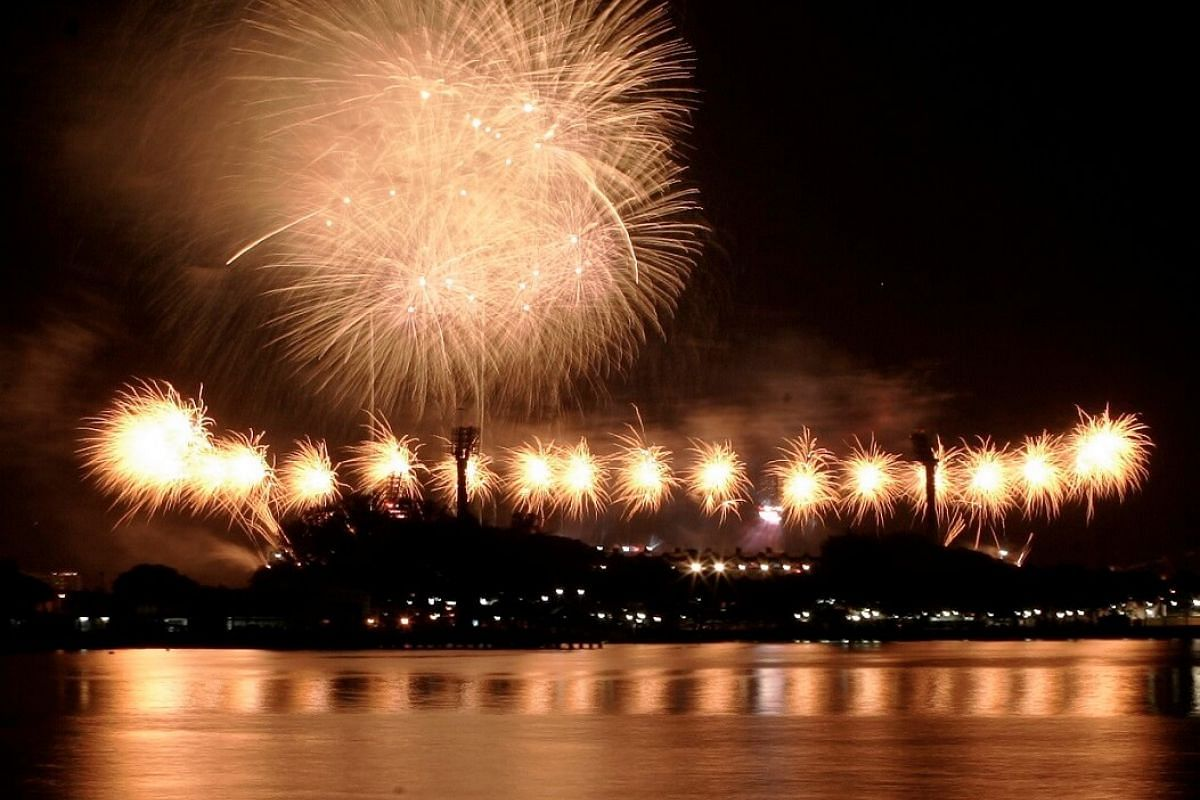 2006: Choreographed fireworks lit up the night sky to the delight of 55,000 spectators in the stadium and those lucky enough to be able to view them from their homes.