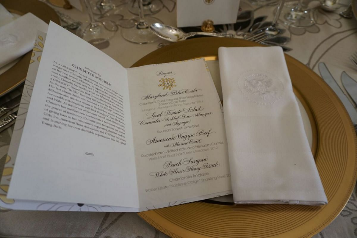 The menu for the evening, revealed last Friday (July 29) at a press preview.