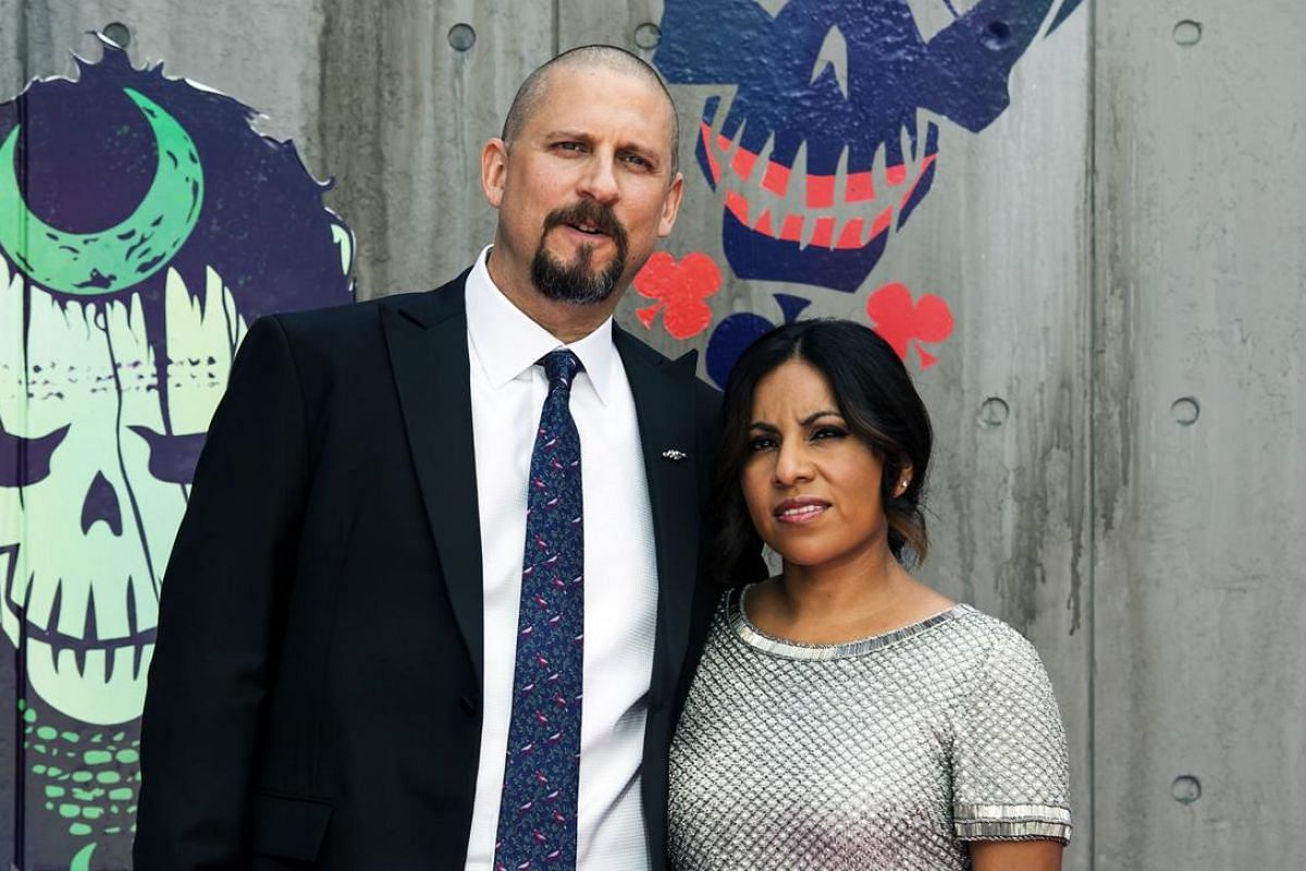 Suicide Squad director David Ayer and his wife Maria arrive for the European premiere of the movie in Leicester Square, London.
