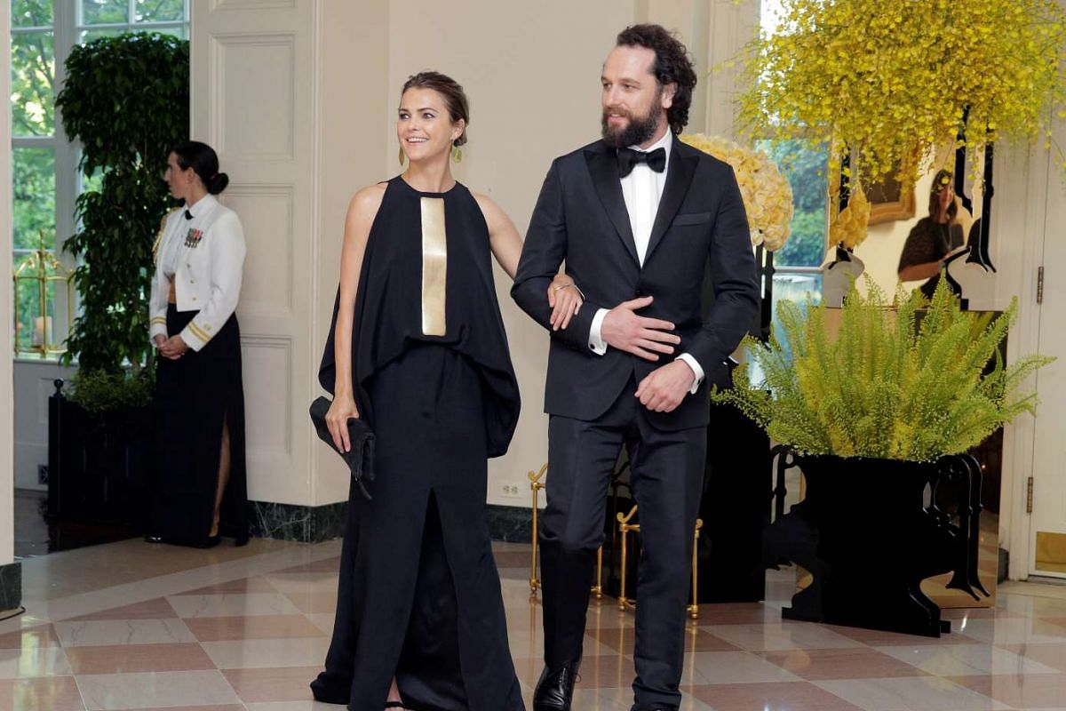 Actors Keri Russell and Matthew Rhys arriving for a State Dinner hosted by US President Barack Obama for Singapore PM Lee Hsien Loong at the White House in Washington, on Aug 2, 2016.