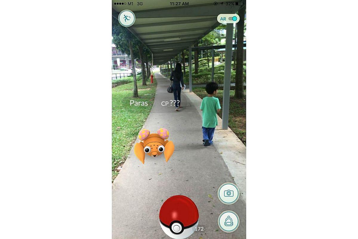 Mobile screenshot of the Pokemon Go app.