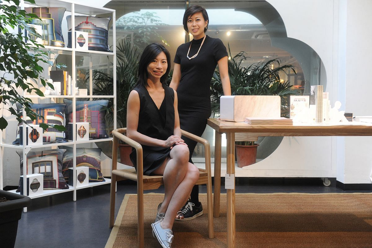 Ms Jessica Wong (above right), on opening Scene Shang in Beach Road. She is seen here with store co-founder Pamela Ting.