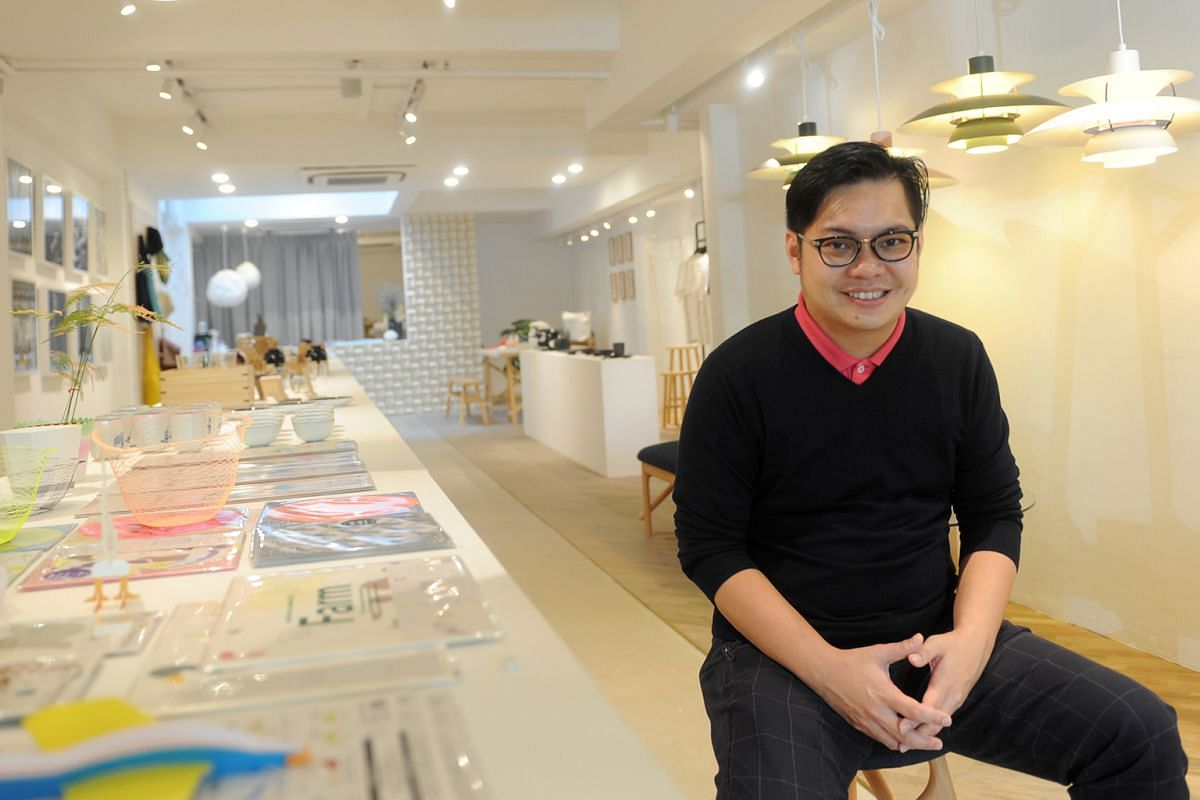 Supermama founder Edwin Low designed the store's Beach Road outlet himself.