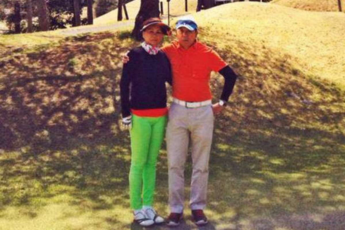 My life so far: Mr Chong golfing and spending time with his wife Swee Heng, an opthamologist.