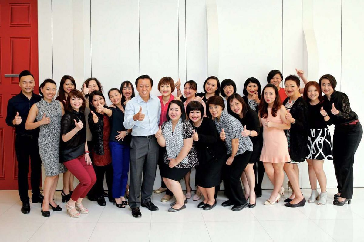 My life so far: With Luxasia's beauty advisers during Elizabeth Arden's regional training in Singapore.