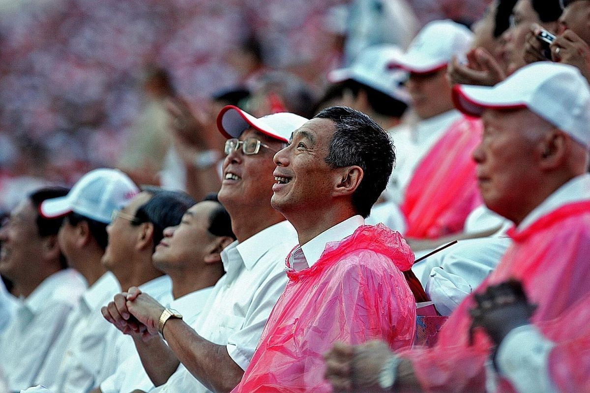 """PM Lee recalls how the faces of children who put on a spectacular LED show in SG50 NDP """"shone with excitement and hope""""."""