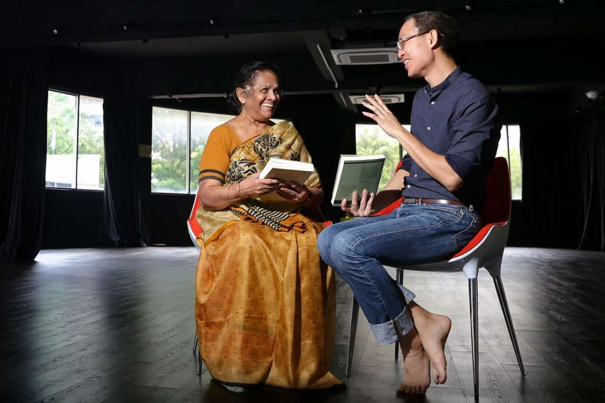 The Select Centre, co-founded by Mr William Phuan (right), promotes translation and intercultural conversation. The centre moved into a new home at Bras Basah Complex as part of a partnership with Mrs Santha Bhaskar (left), artistic director of Bhask