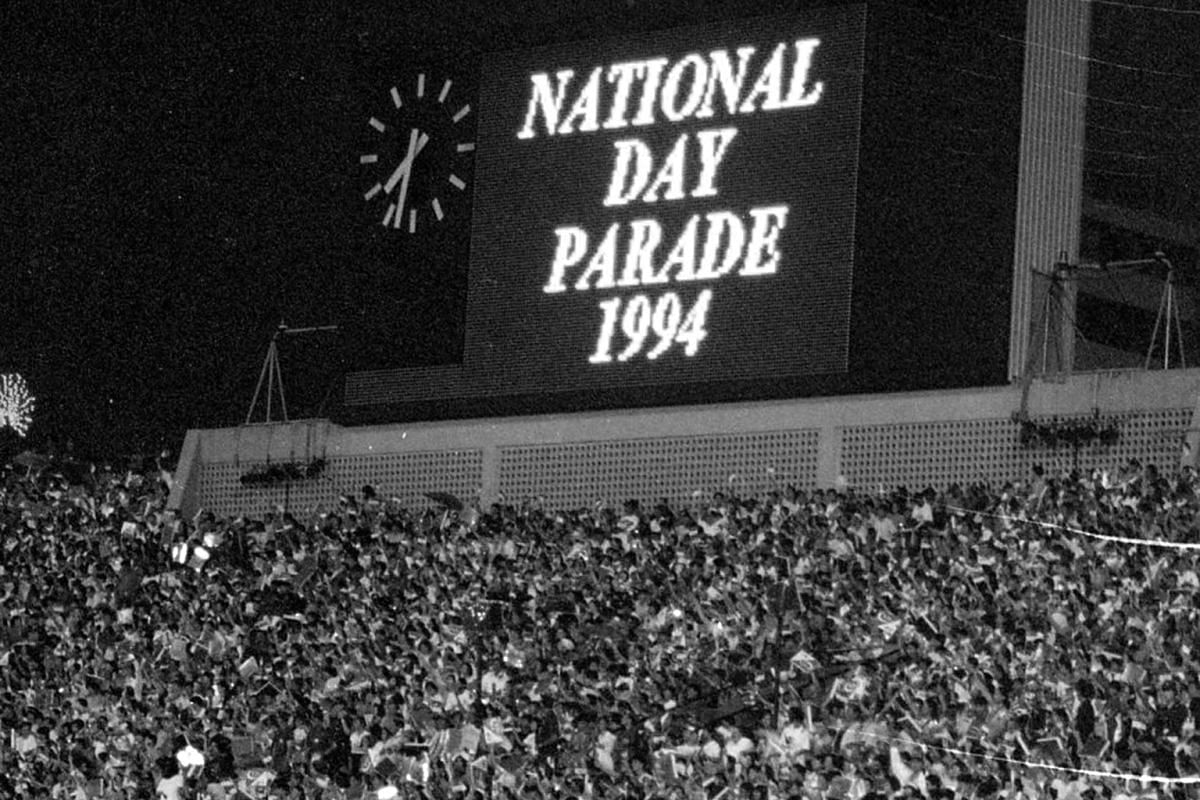Madam Chiang keyed in information about the parades on the scoreboard at the National Stadium from 1988 to 1994.