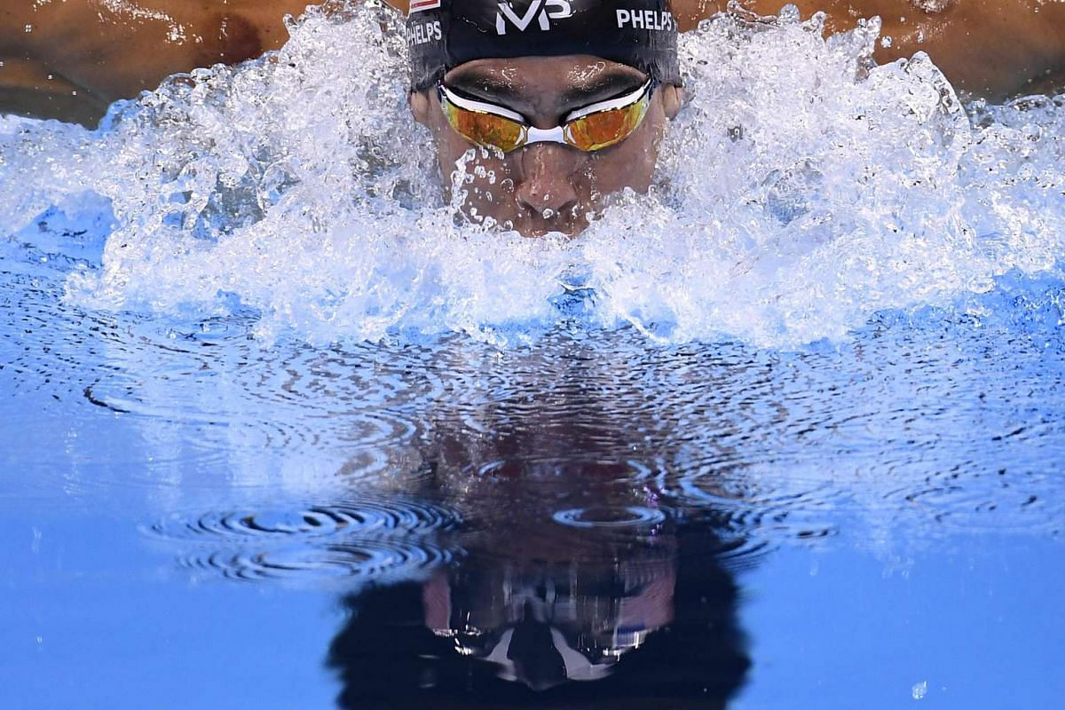 USA's Michael Phelps competes in the men's 200m Individual Medley semi-finals at the Rio 2016 Olympic Games in Rio de Janeiro, Brazil, on August 10, 2016.
