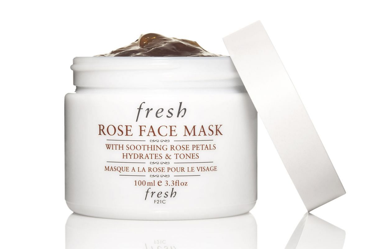 6 Rose Face Mask, $95.