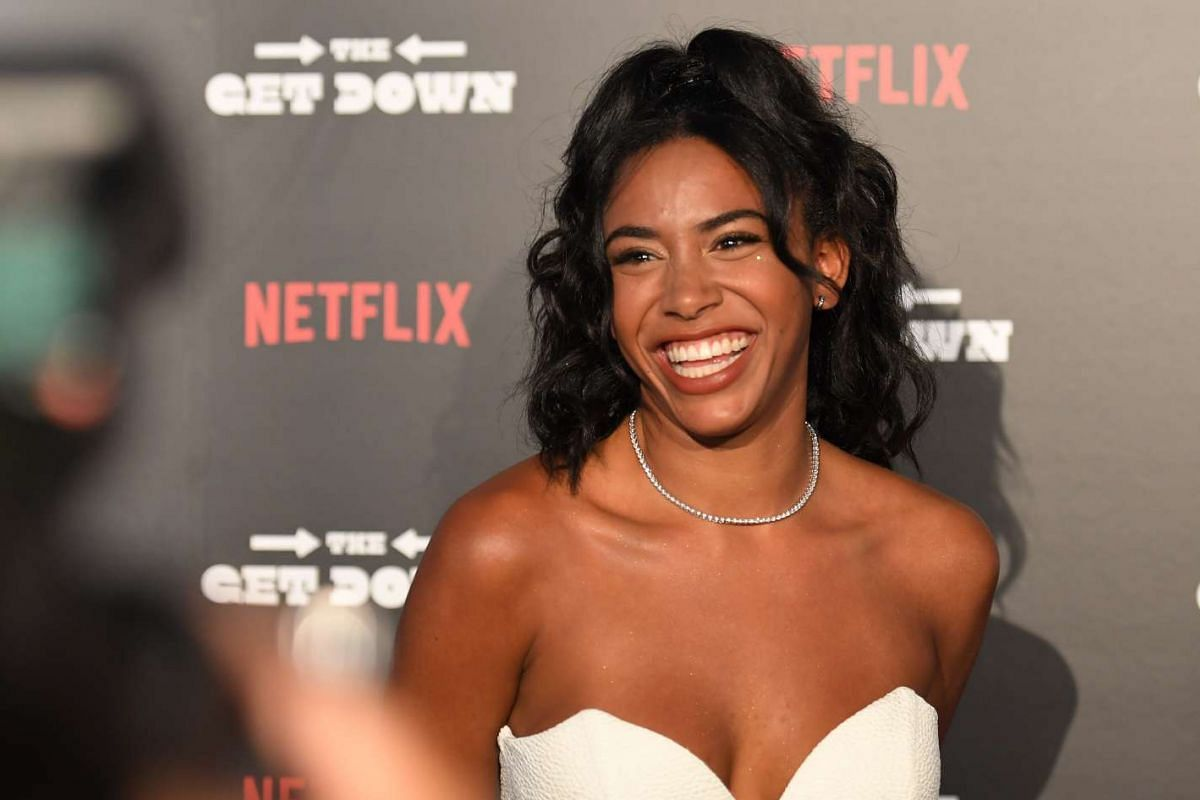 Actress Herizen Guardiola arrives for the premiere.
