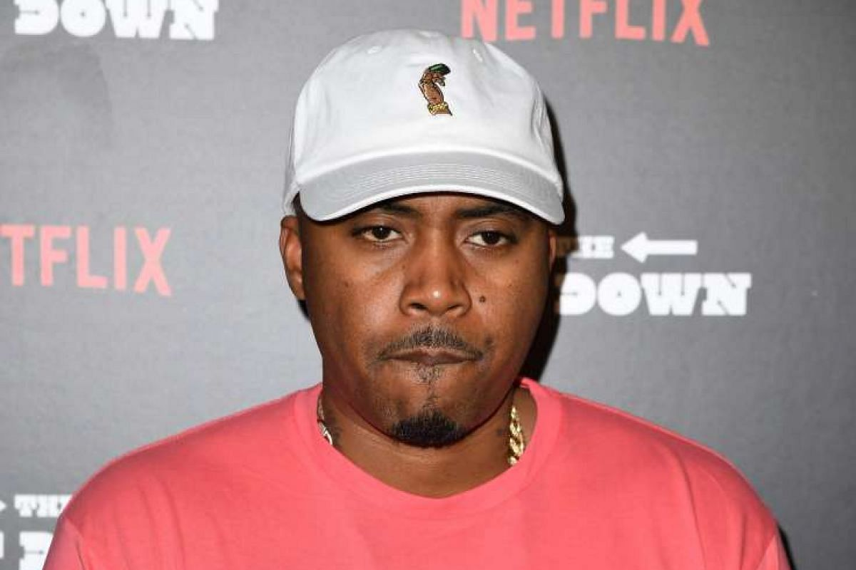 Veteran rapper Nas, who along with Grandmaster Flash, helped shape the music for The Get Down, arrives for the premiere.