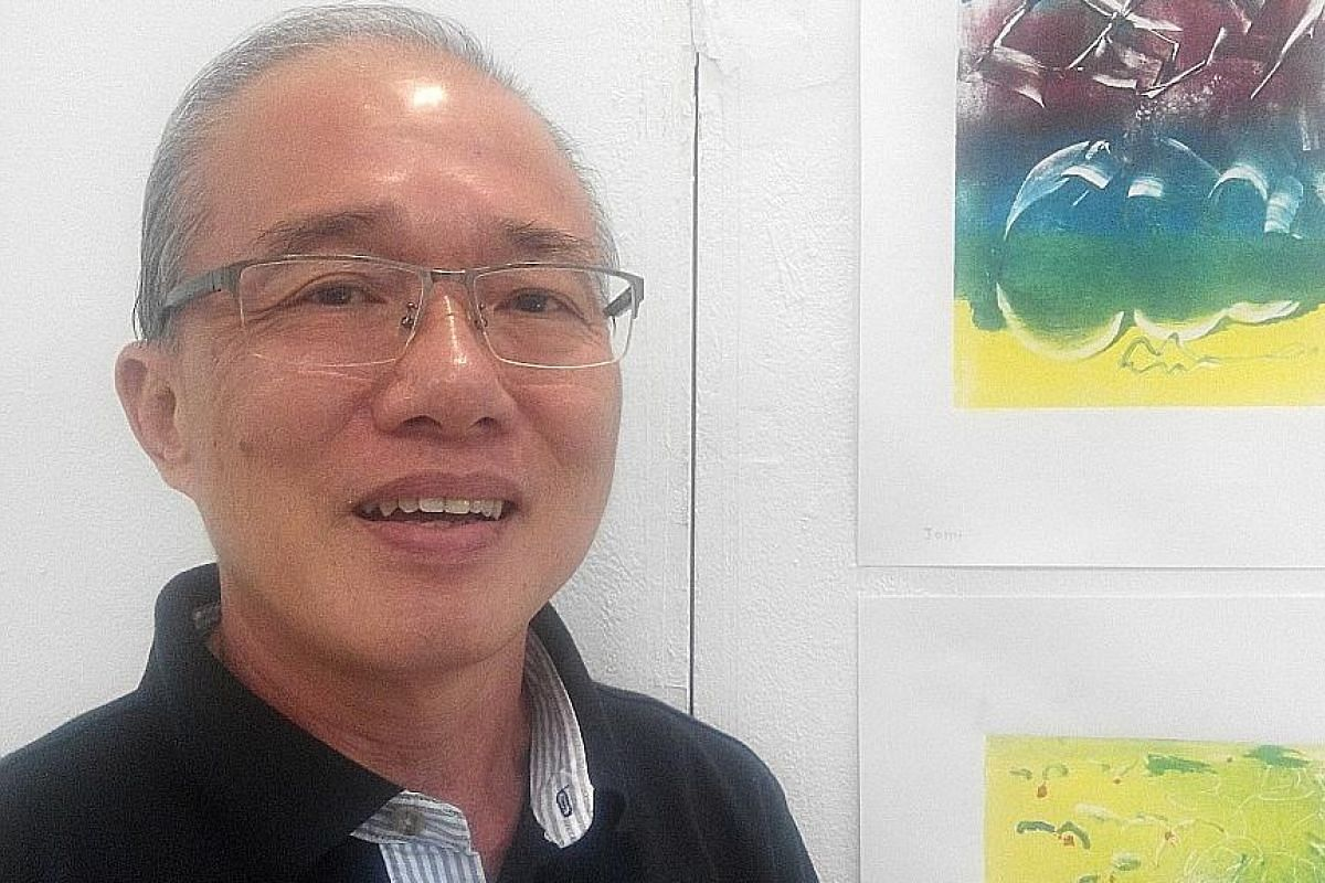 Mr John Lum's works created during a printmaking workshop in June will be on display at the National Library. Tina Wah in her first leading role, in the short film, Spring Again.