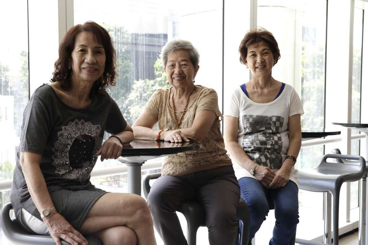 Housewives (from left) Ivy Goh, Tan Ah Moi and Jenny Cheong star in Kampong Chempedak, a multilingual play.