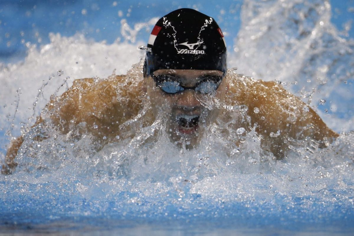 Joseph Schooling in action during the men's 100m butterfly final on Aug 12.