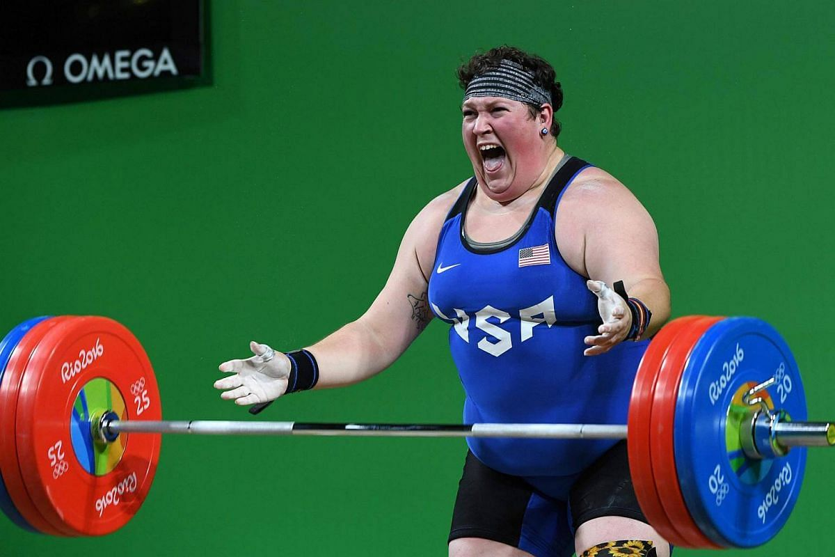 USA's Sarah Elizabeth Robles competes in the women's weightlifting +75kg event at the Rio 2016 Olympic Games on Aug 14.