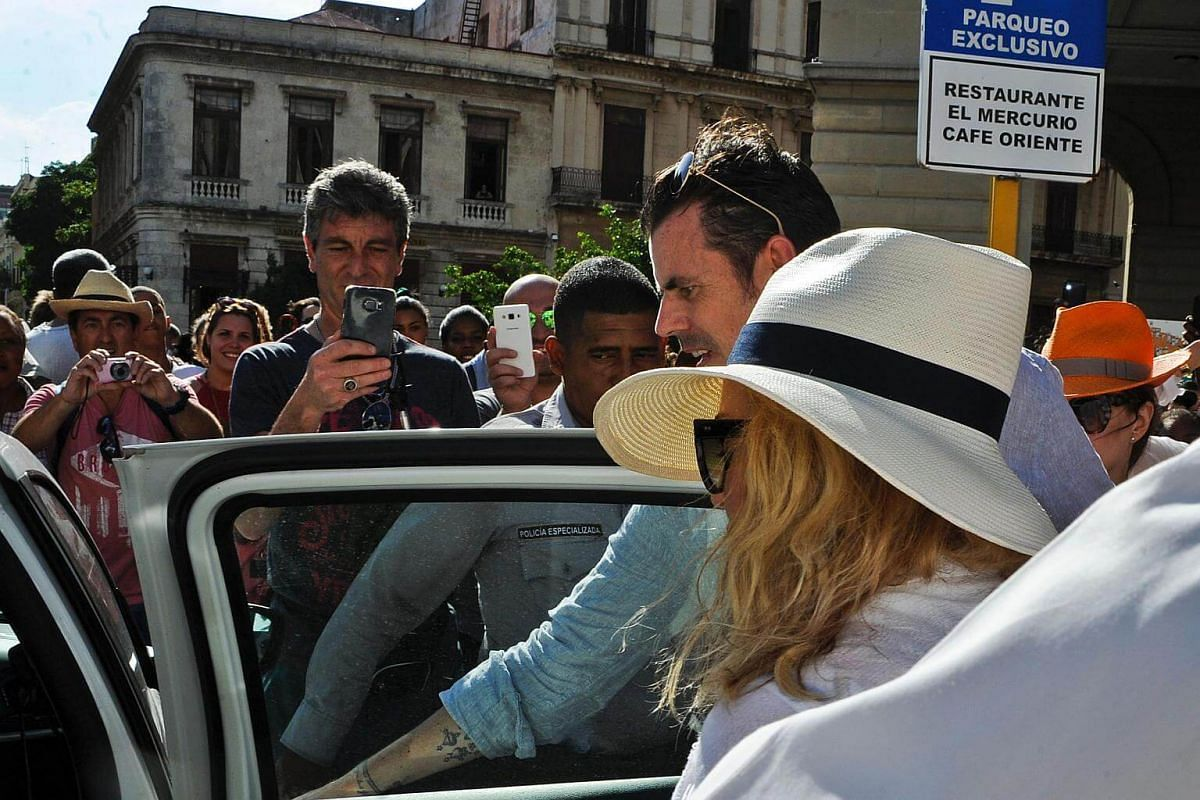 Singer Madonna gets in a car in Havana, where she is celebrating her 58th birthday, on Aug 16.