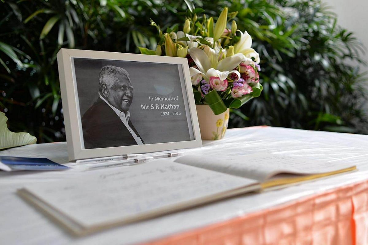 The commemoration table at Singapore General Hospital.