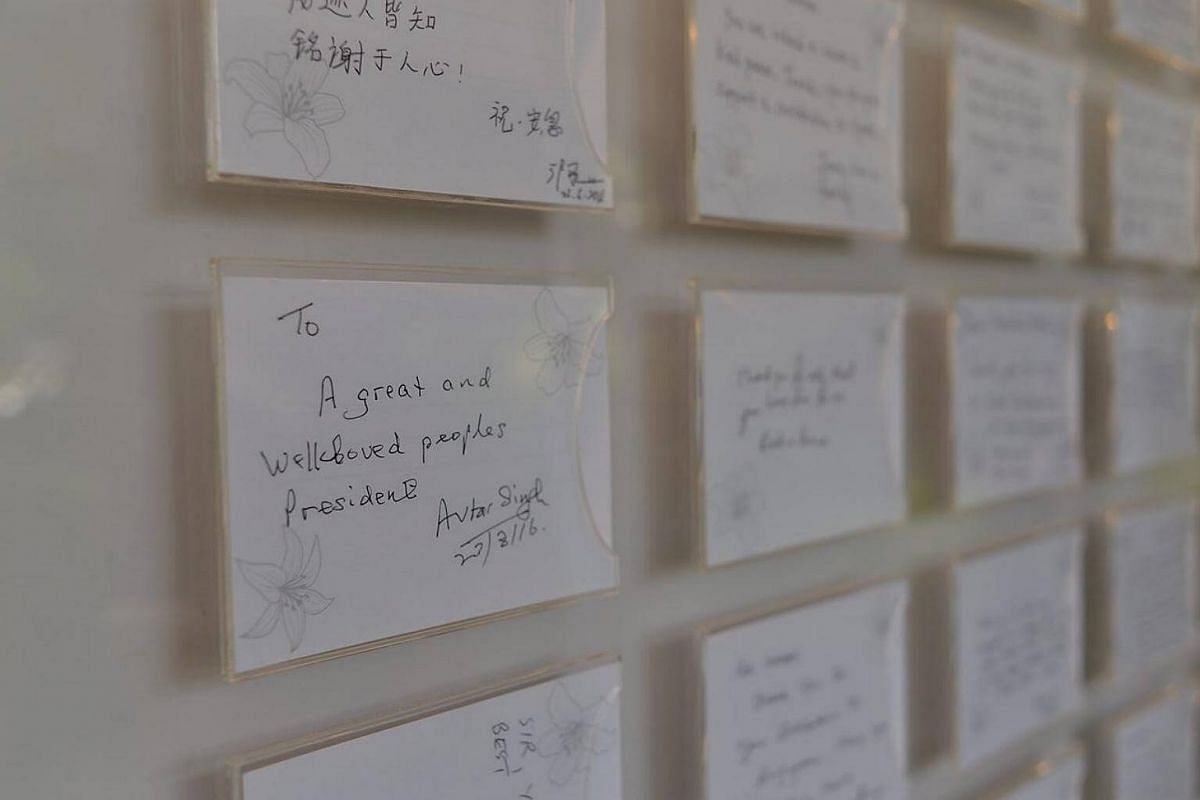 Notes by Singaporeans in tribute to a beloved people's president.
