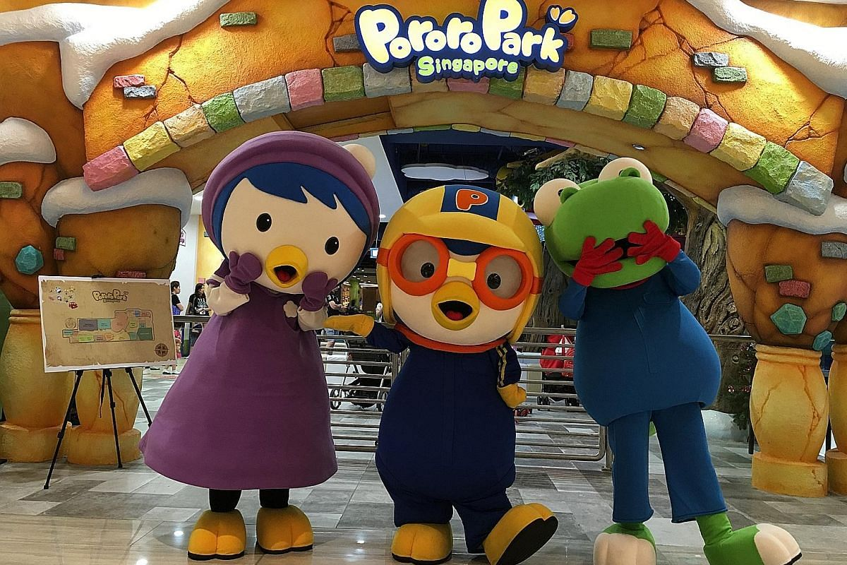 The Pororo Park indoor playground (above) on the second floor of Marina Square.