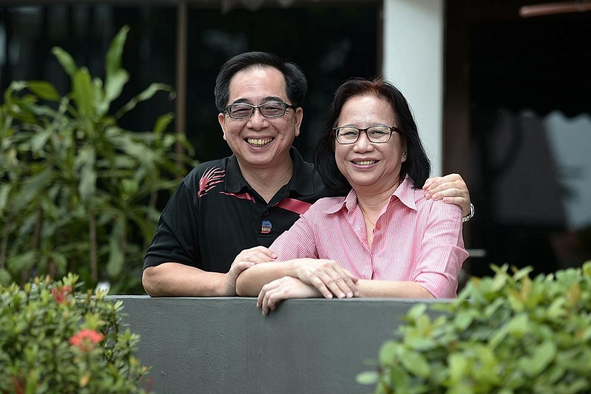 Mr Alan Wong, with his wife Jennifer Long, worked 25 years in the retail industry before switching to social work.