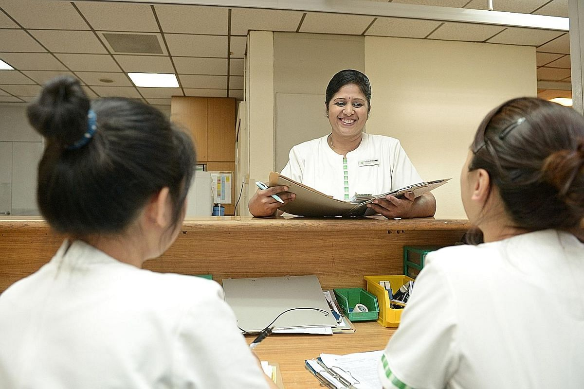 Ms Suguna Tambusamy, who was in accounting, is enjoying her new vocation as a nurse.