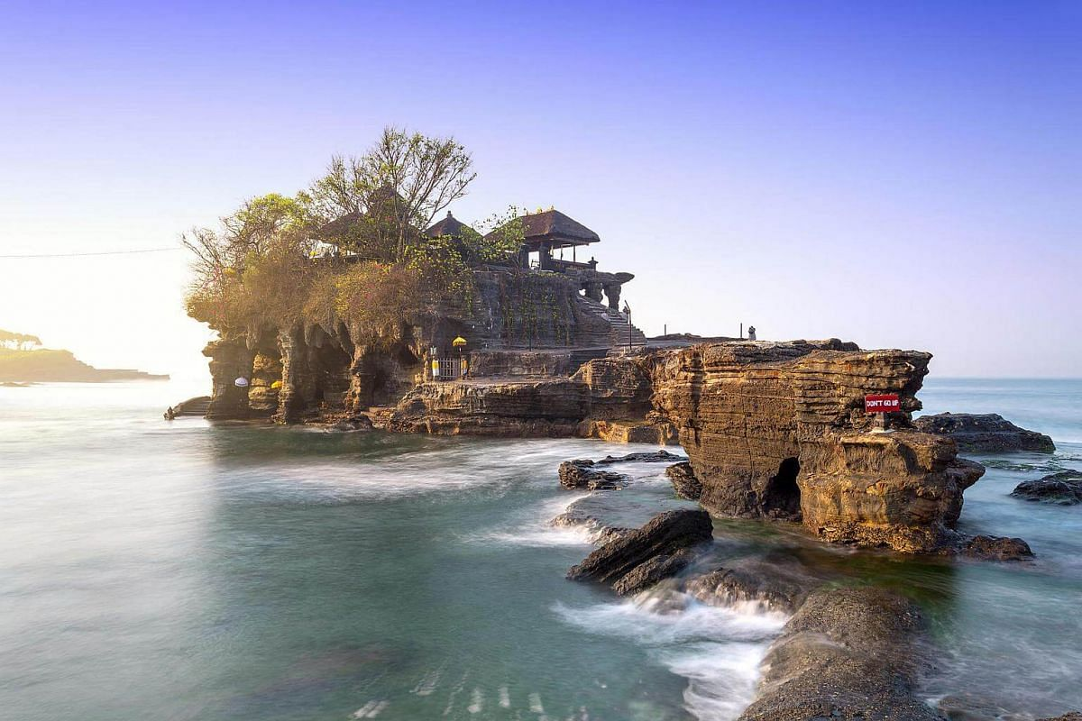 A view of Tanah Lot in Bali, Indonesia.
