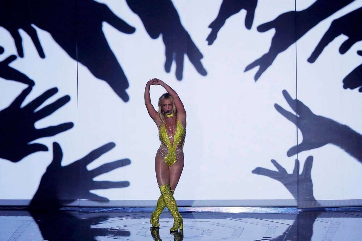 Britney Spears performs during the 2016 MTV Video Music Awards in New York, US, on August 28.