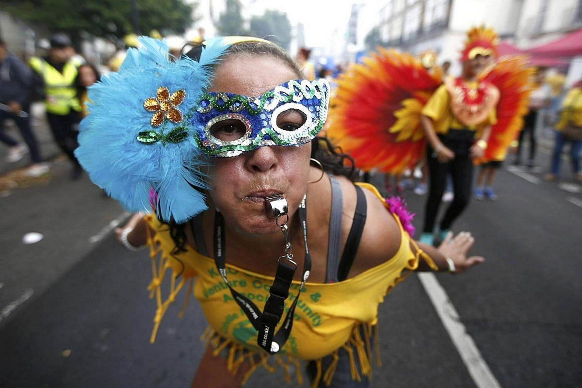 Performers participate in the children's day parade at the Notting Hill Carnival in London, Britain on Aug 28, 2016.