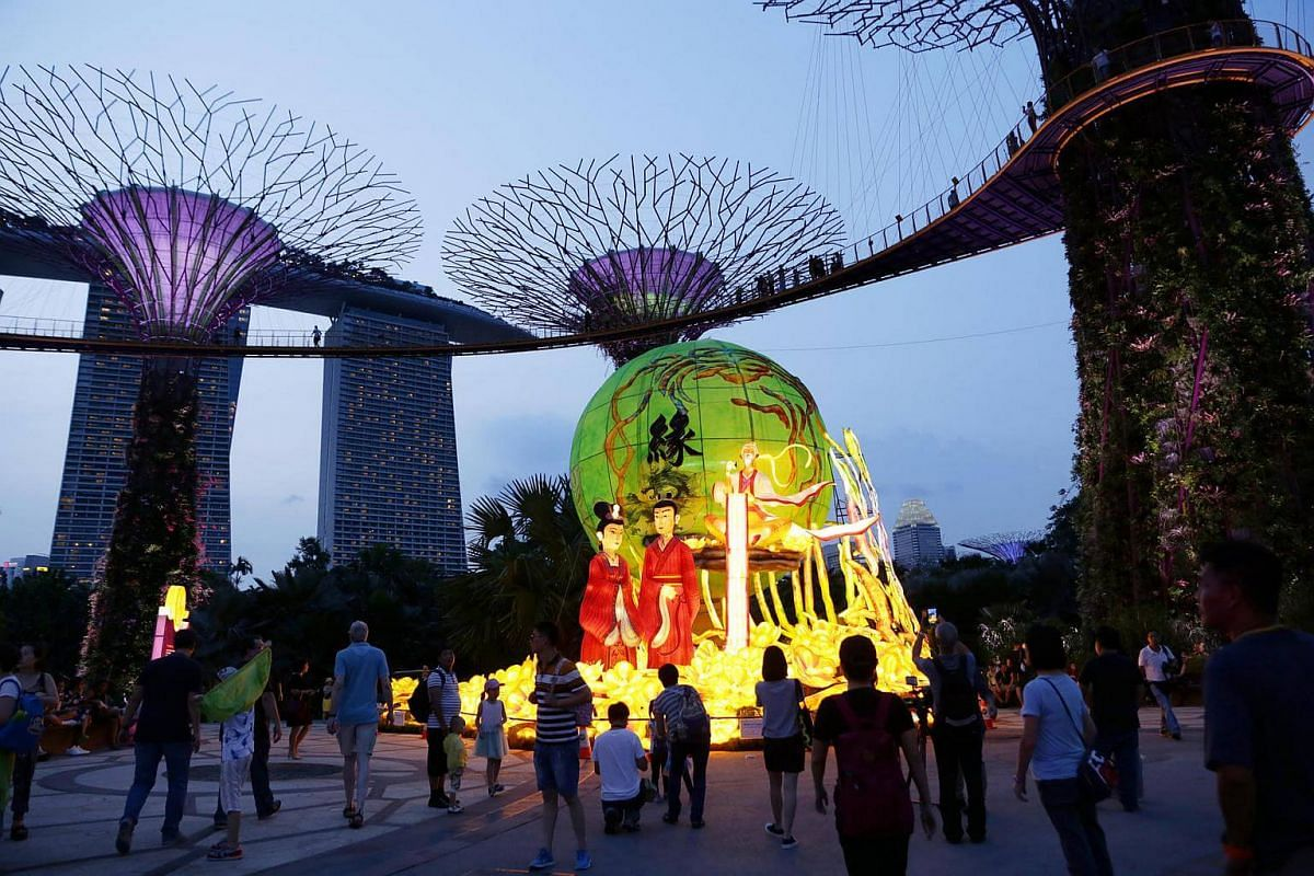 Seven large lantern sets featuring characters such as Chang'e and the Jade Rabbit will light up Gardens by the Bay this Mid-Autumn Festival in September.