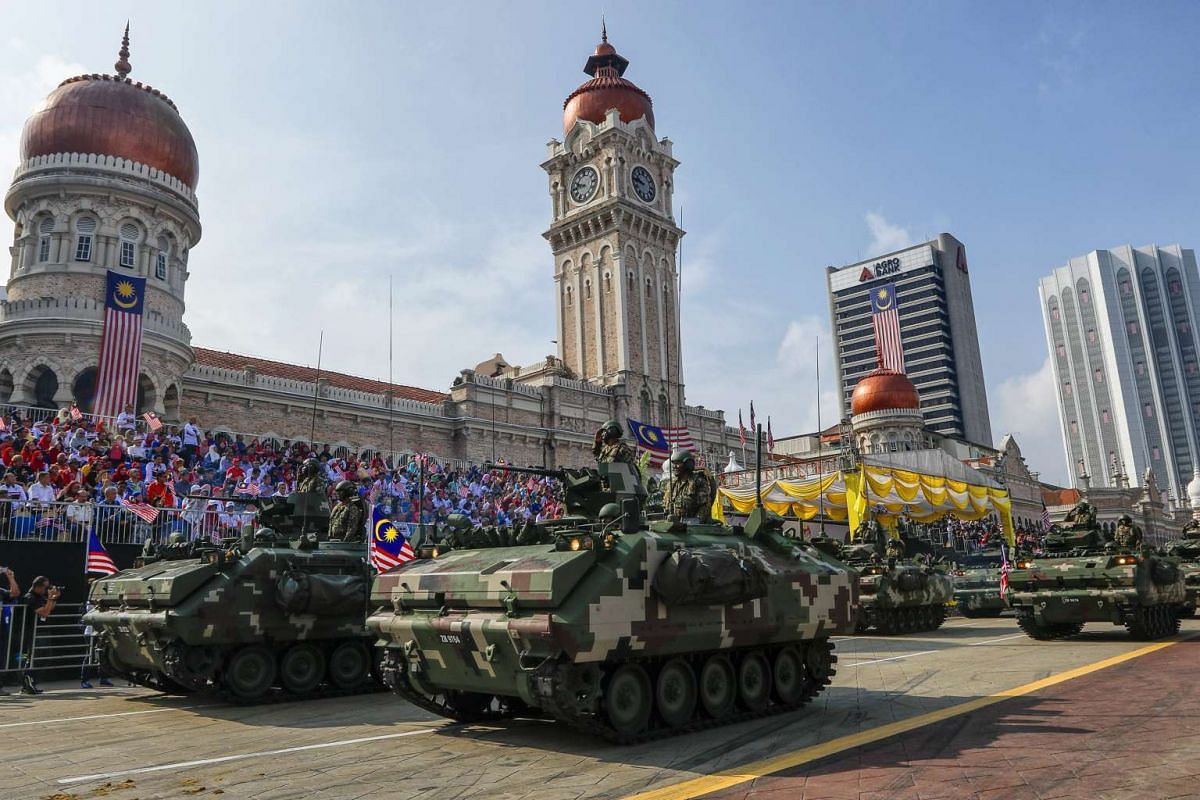 Malaysian Armed Forces vehicles parade during the Independence Day celebrations in Kuala Lumpur, Malaysia on Aug 31, 2016.