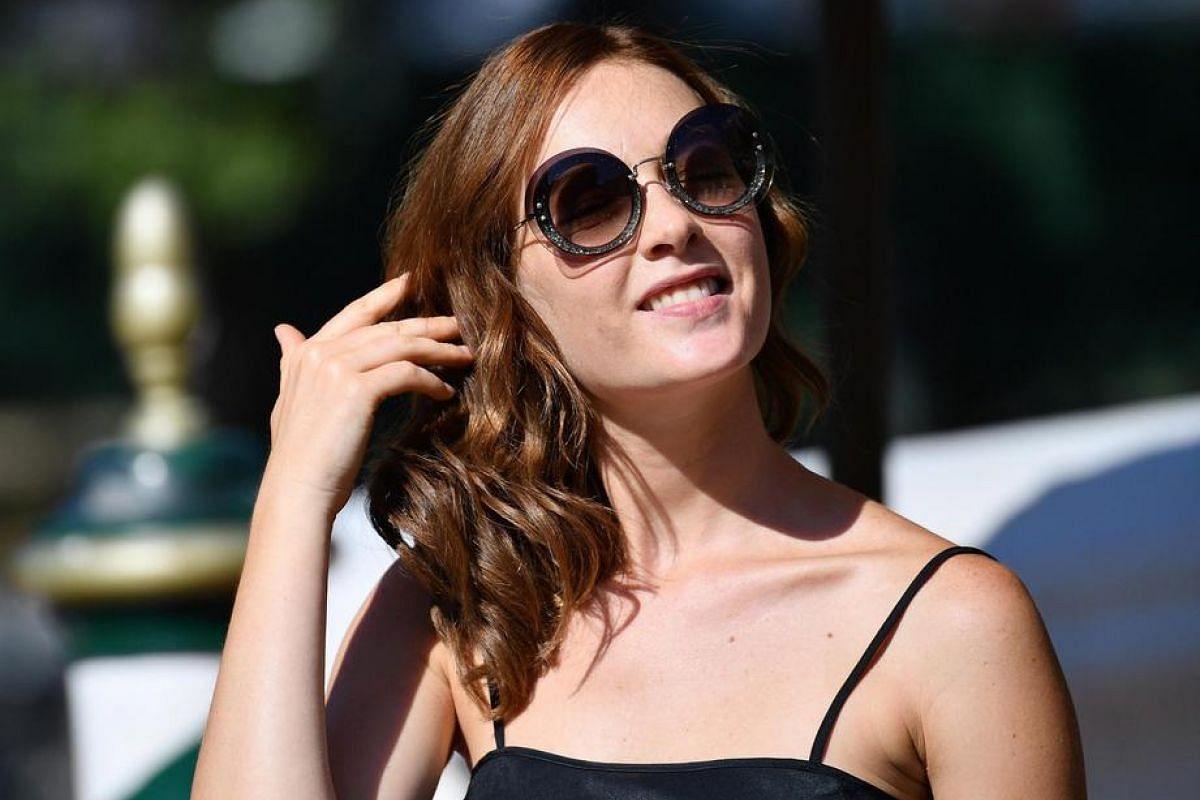 Italian actress Cristiana Capotondi arrives at the Lido Beach to present Tommaso at the 73rd annual Venice International Film Festival, in Venice, Italy, Aug 31, at Venice Lido.